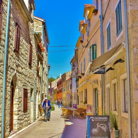 Main street through Skradin, Croatia