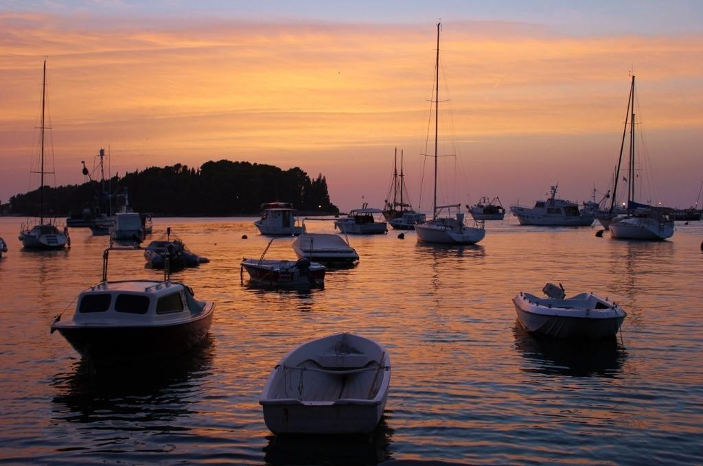 Harbor Sunset, Rovinj, Croatia