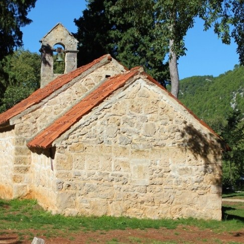 Small stone church at Krka National Park