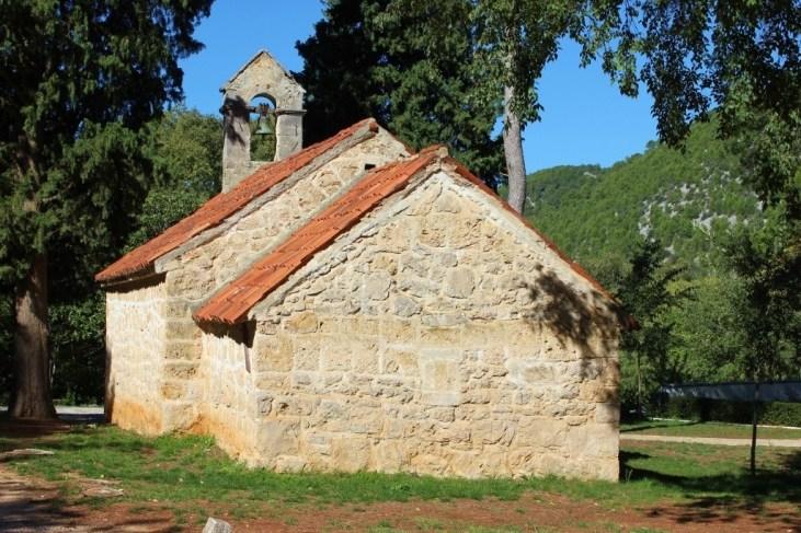 Small stone church at Krka National Park