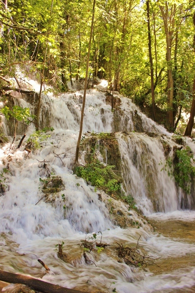 Waterfalls in the forest at Krka National Park