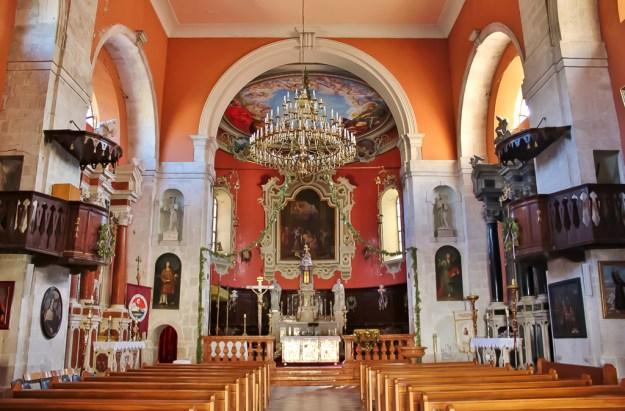 Baroque interior of Crkva Male Gospe in Skradin, Croatia