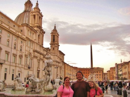 Baroque fountains on Piazza Navona in Rome, Italy