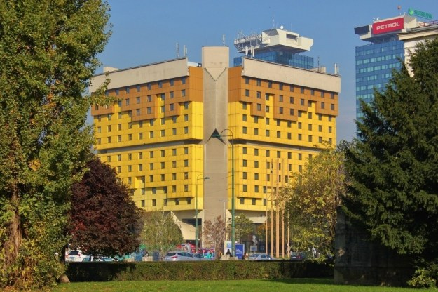 Iconic Holiday Inn Hotel built for 1984 Olympics in Sarajevo