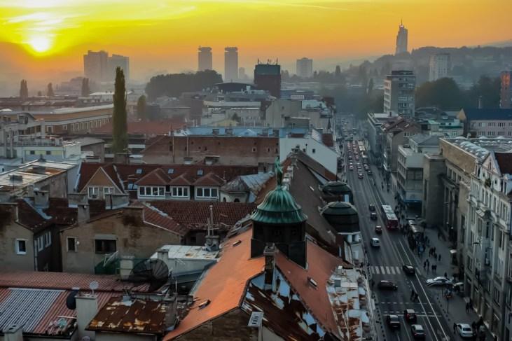 Sunset in Sarajevo, BIH