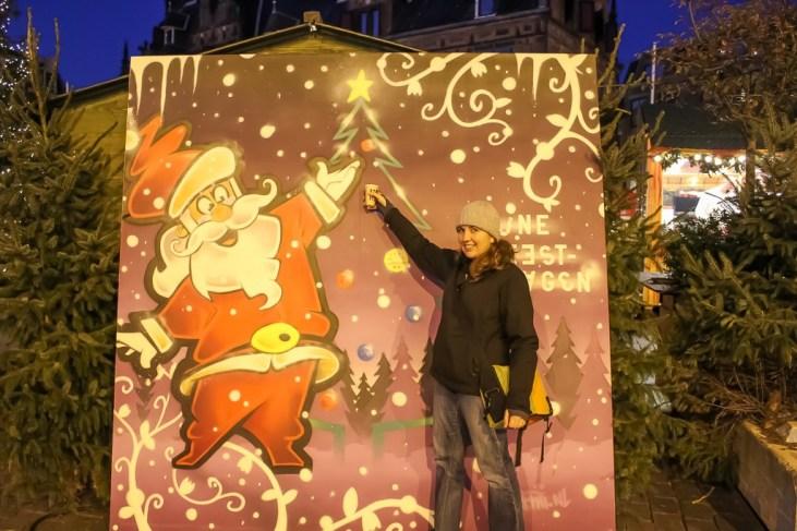 Cheers to Santa at Christmas Market in Nijmegen, Netherlands