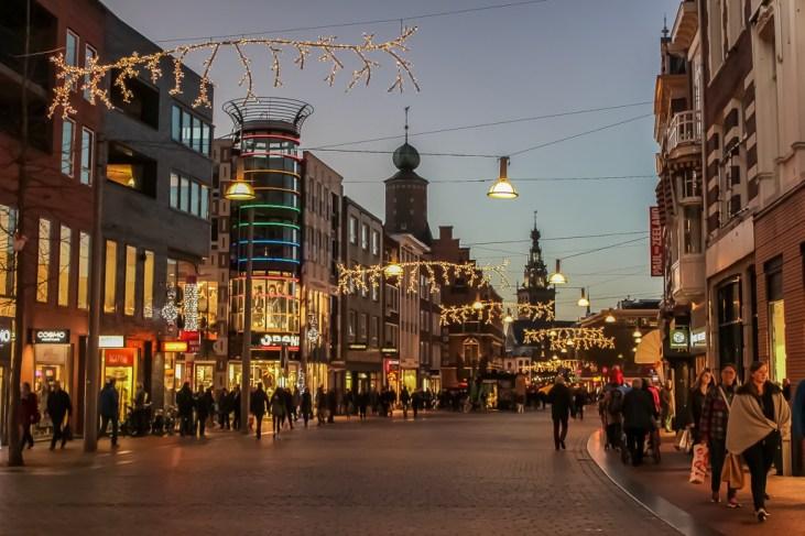 Festive street decorations in Nijmegen, Netherlands