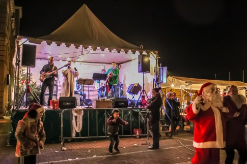 Stage for musical entertainment at Beek, Netherlands Christmas Fair