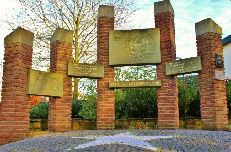 Monument to the U.S. 82nd Airborne Division in Beek, Netherlands