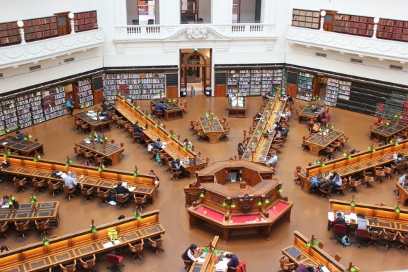 Melbourne Library Reading Room