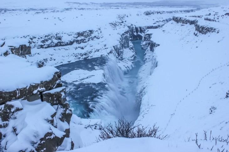 Frozen Gullfoss Waterfall, Iceland