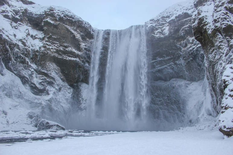 Skogafoss Waterfall in Winter, Iceland