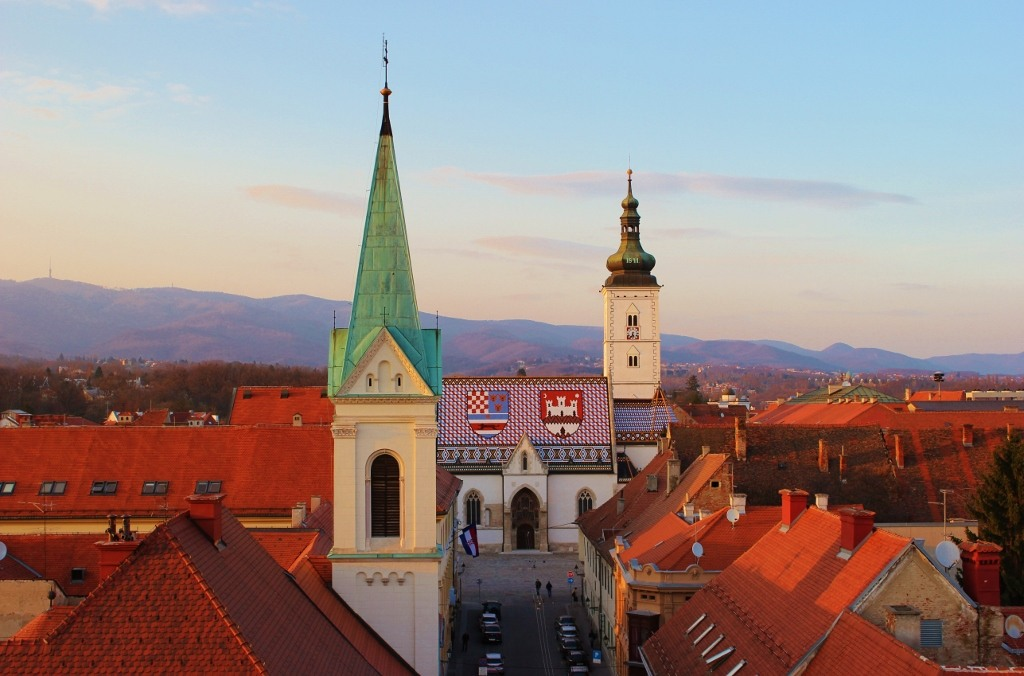 2-week Croatia Itinerary Zagreb St. Mark's Church JetSetting Fools