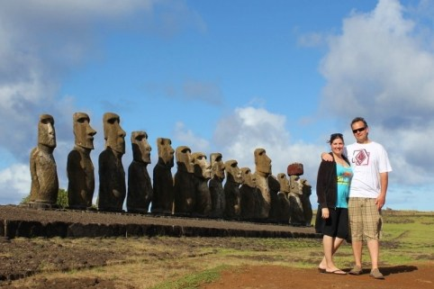 JetSetting Fools Sarah and Kris touring Easter Island, Chile