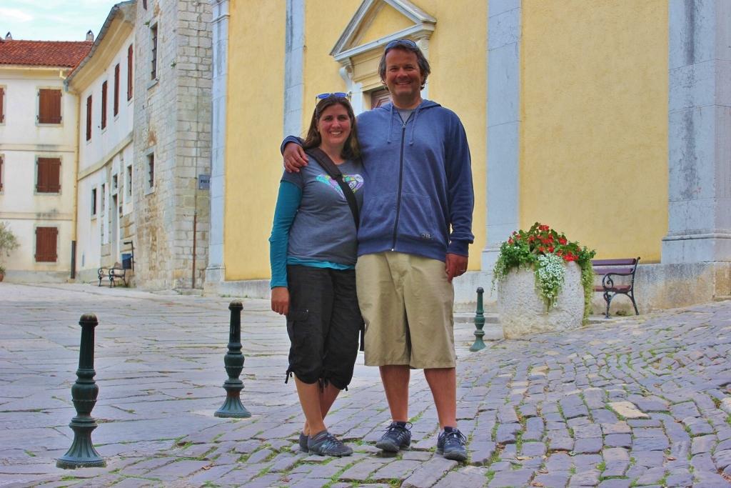 JetSetting Fools Sarah and Kris touring Motovun, Istria, Croatia