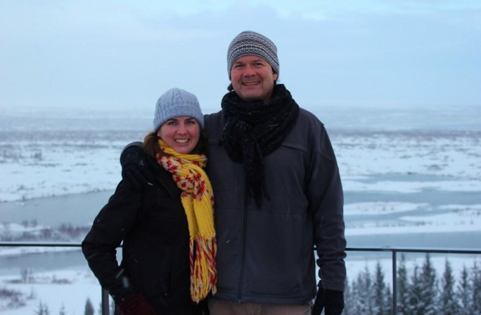 JetSetting Fools Sarah and Kris touring Thingvellir National Park Iceland