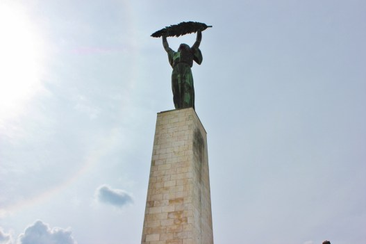 Budapest, Hungary Gellert Hill Liberty Statue JetSettingFools.com