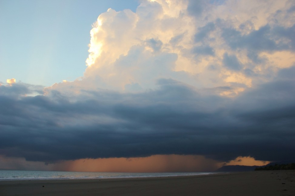 Stormy weather is nature in Costa Rica