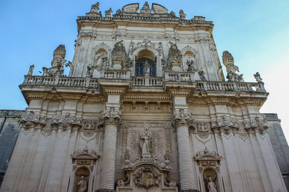 Facade of Basilica di San Giovanni Battista in Lecce, Italy