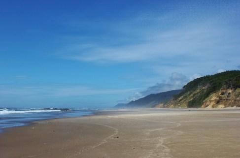 A hike near florence, Oregon leads to Hobbit Beach