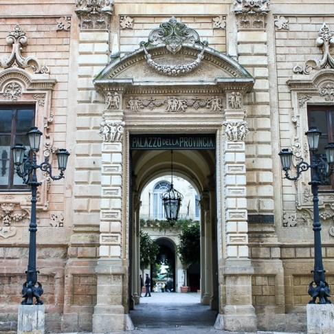Building facade in Lecce, Italy
