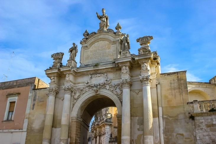 Porta Rudiae Gate in Lecce, Italy