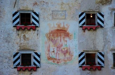 Fresco coat of arms at Predjama Castle