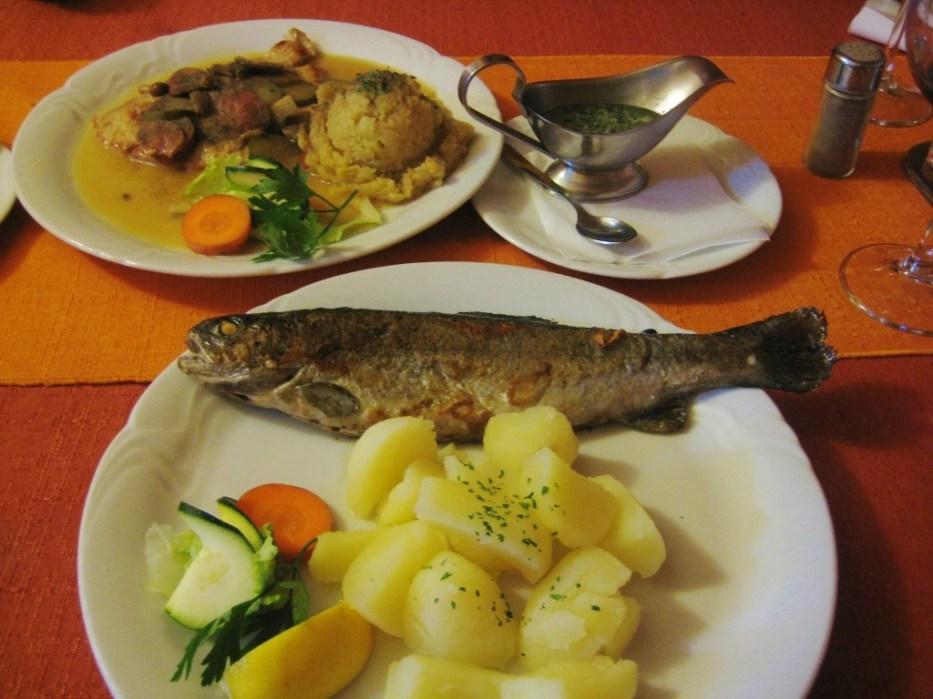 Fresh Fish Meal at Gostilna Kot, Kranj, Slovenia