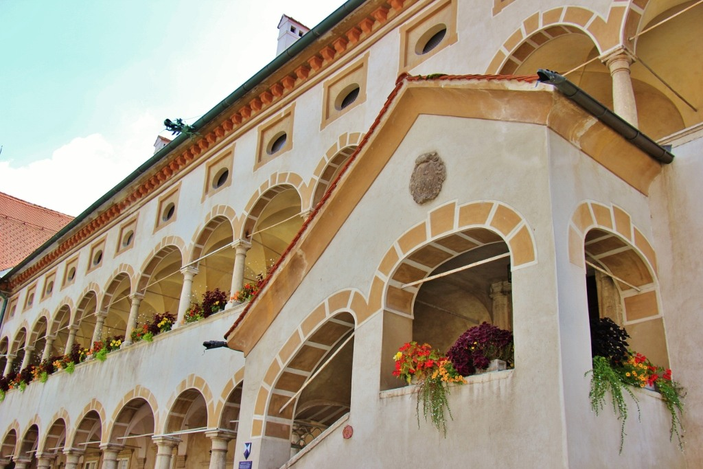 Arches of Old Counts' Mansion, Celje Regional Museum, Celje, Slovenia