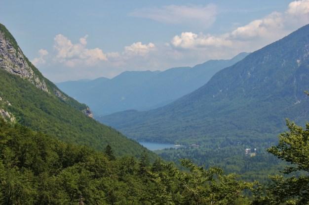 Lake Viewpoints on the Savica Waterfall hiking trail near Lake Bohinj, Slovenia