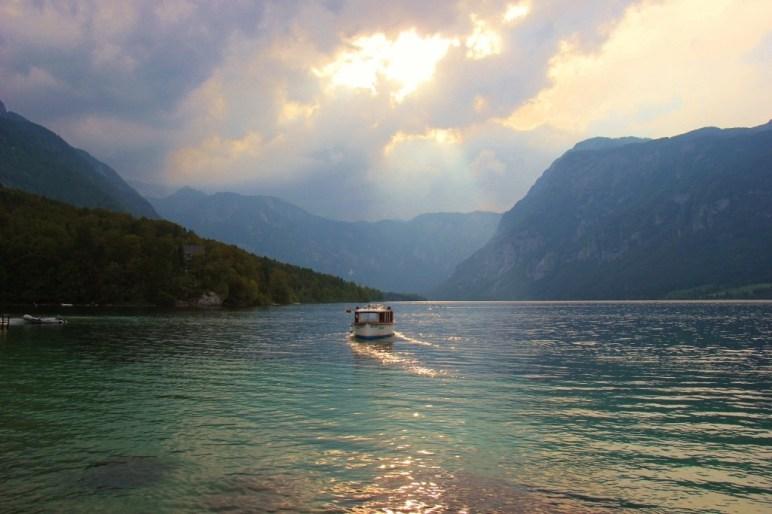 Electric Tourist boat on Lake Bohinj, Slovenia