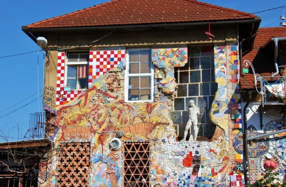Nearly demolished building in Metelkova, Ljubljana Slovenia
