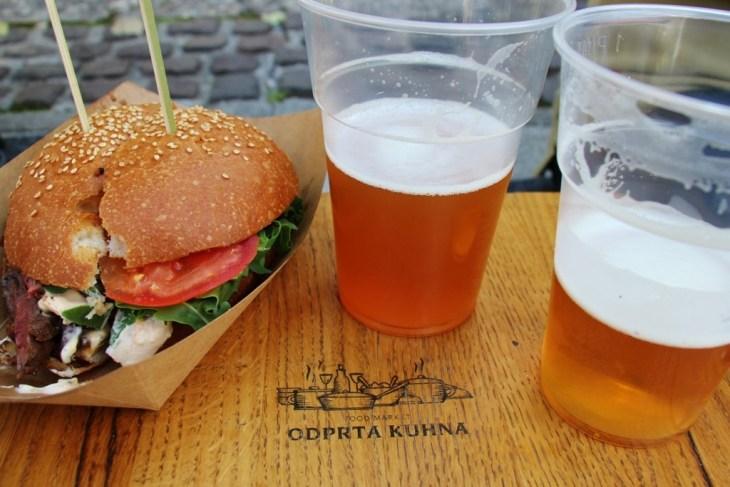 Odprta Kuhna, Open Kitchen Food Market in Ljubljana Slovenia