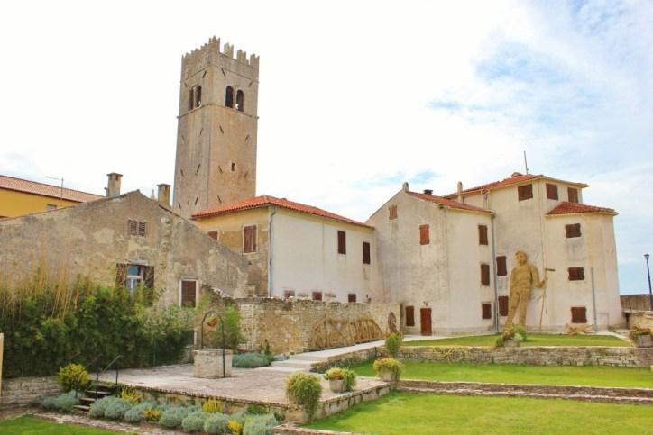 Tower on hilltop town Motovun, Istria, Croatia
