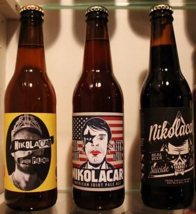 Nikolacar Craft Beer in bottles in Belgrade, Serbia