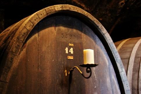 Large Oak Wine Barrel in Vinag Wine Cellar in Maribor, Slovenia