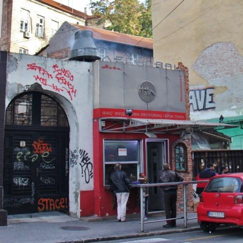 Leskovacka Pljeskavica fast food take away burger shop in Belgrade, Serbia