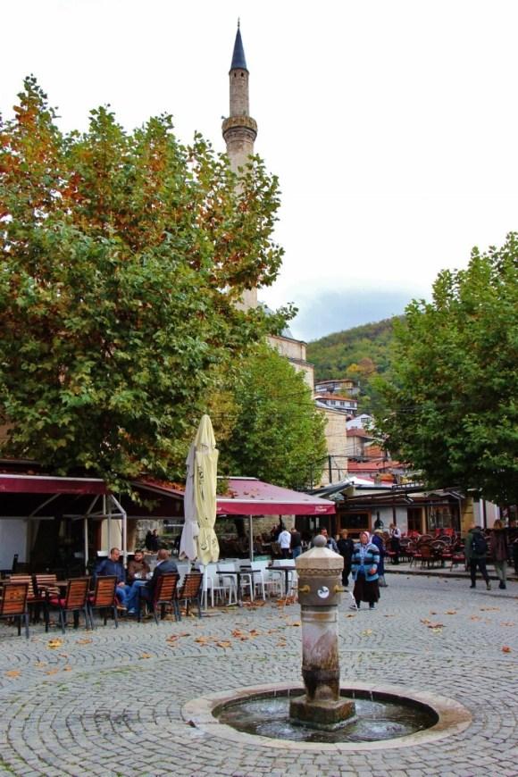 Shadervan Fountain in the main square in Prizren, Kosovo
