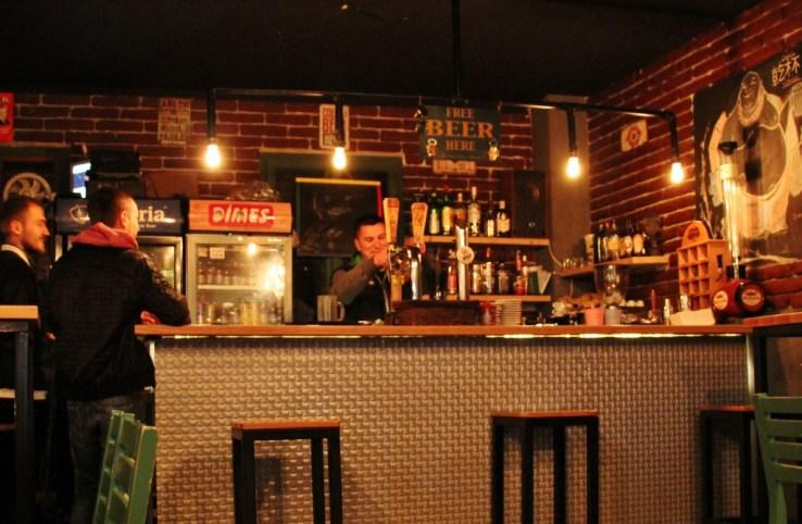 Bar at Te Kinezi in Prizren, Kosovo