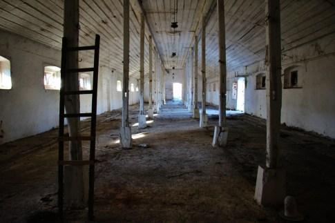 Abandoned barn in village near Osijek, Croatia