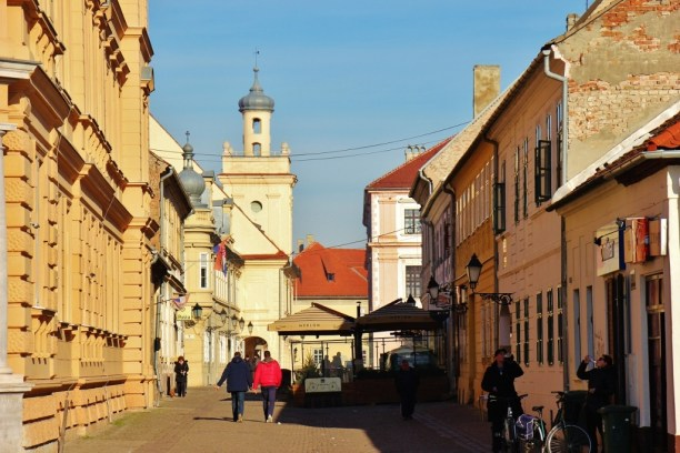 View of Old Town Osijek, Croatia