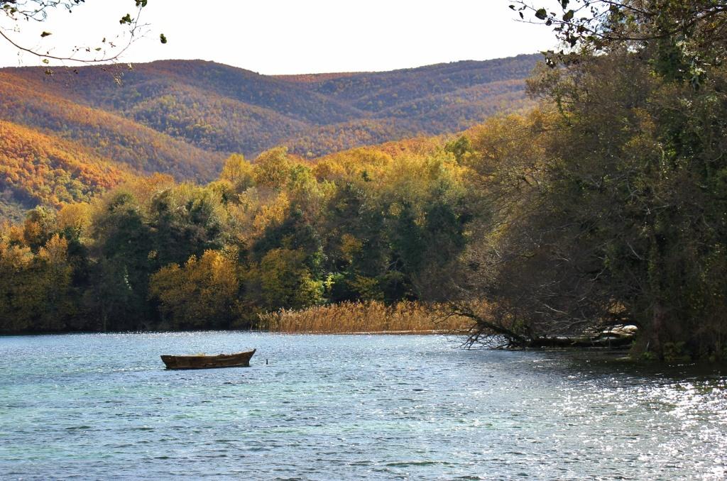 Boat on the water at Lake Ohrid, Macedonia