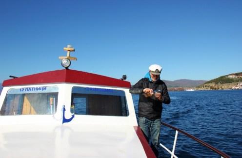 Boating with Captain Zoran on Lake Ohrid, Macedonia