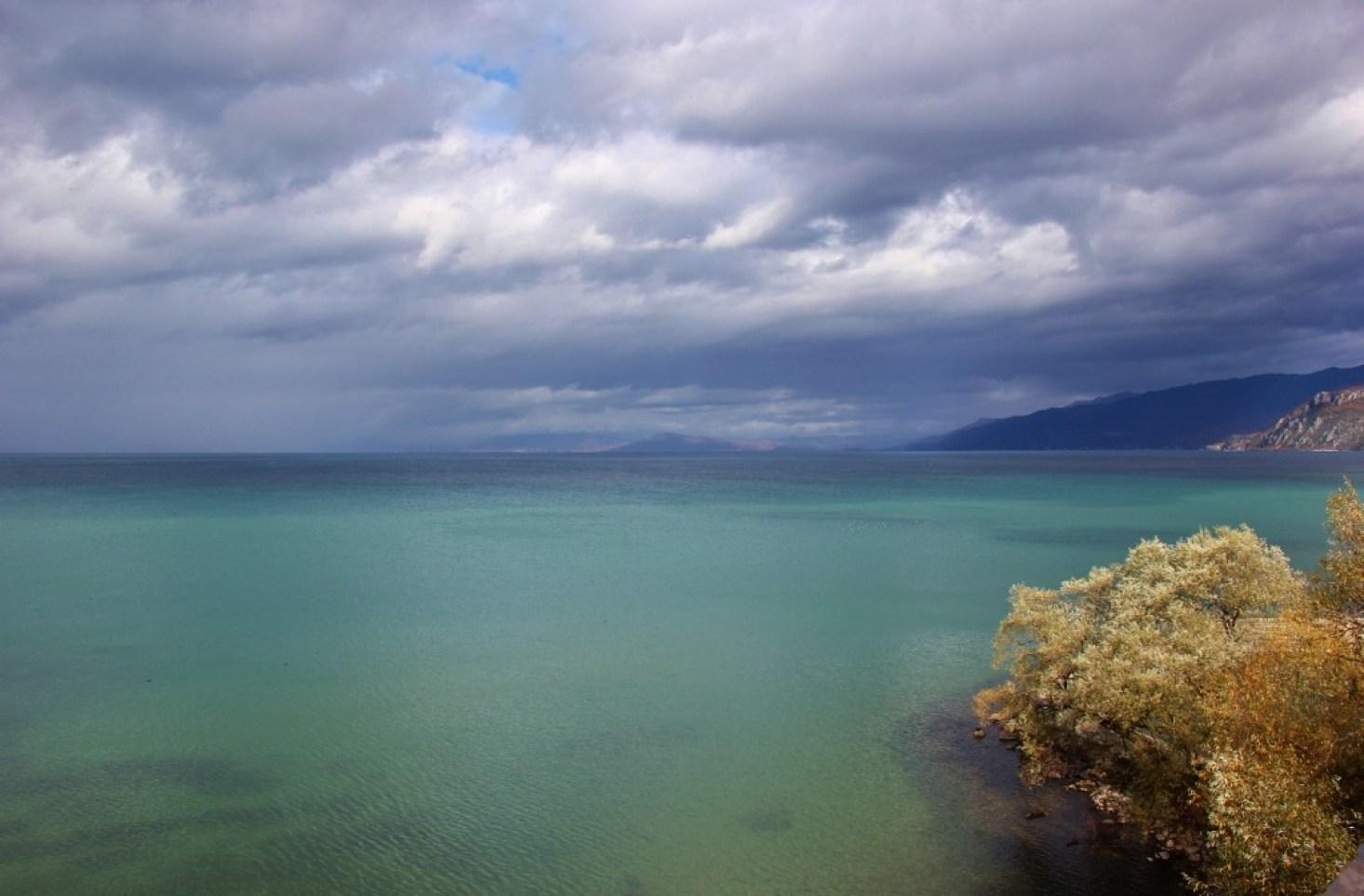 View of Lake Ohrid, Macedonia from St. Naum Monastery