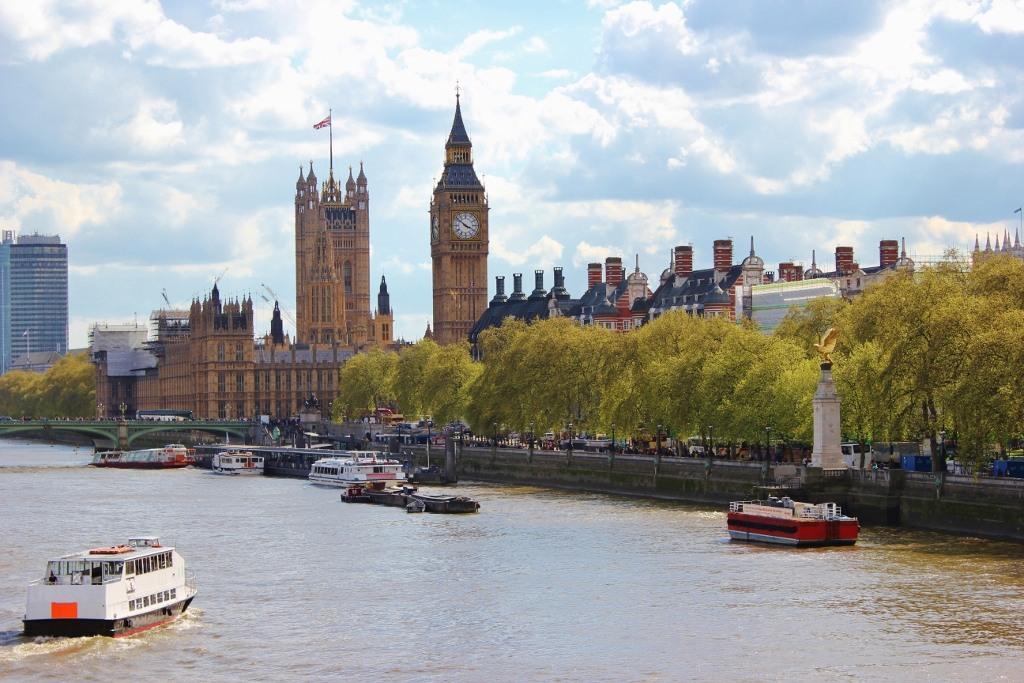City View from Golden Jubilee Bridge, London, England, jetsettingfools.com