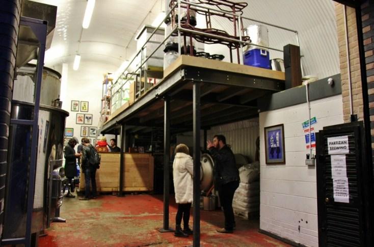 Partizan Brewing Taproom, Bermondsey Beer Mile, London Craft Beer Crawl