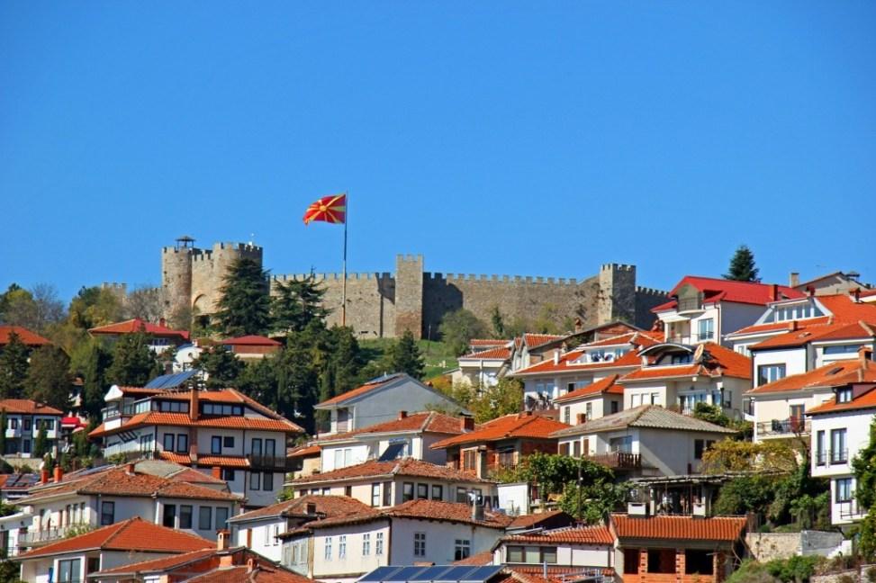 Samuel's Fortress in Lake Ohrid, Macedonia