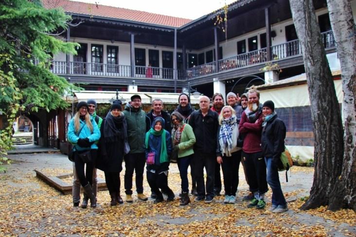 Skopje Walks tour group, Skopje, Macedonia