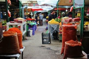 Spices for sale at Bit Pazar Market, Old Bazaar, Skopje, Macedonia