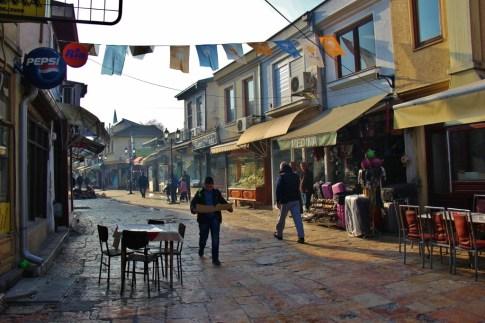 Street in Old Bazaar, Skopje, Macedonia